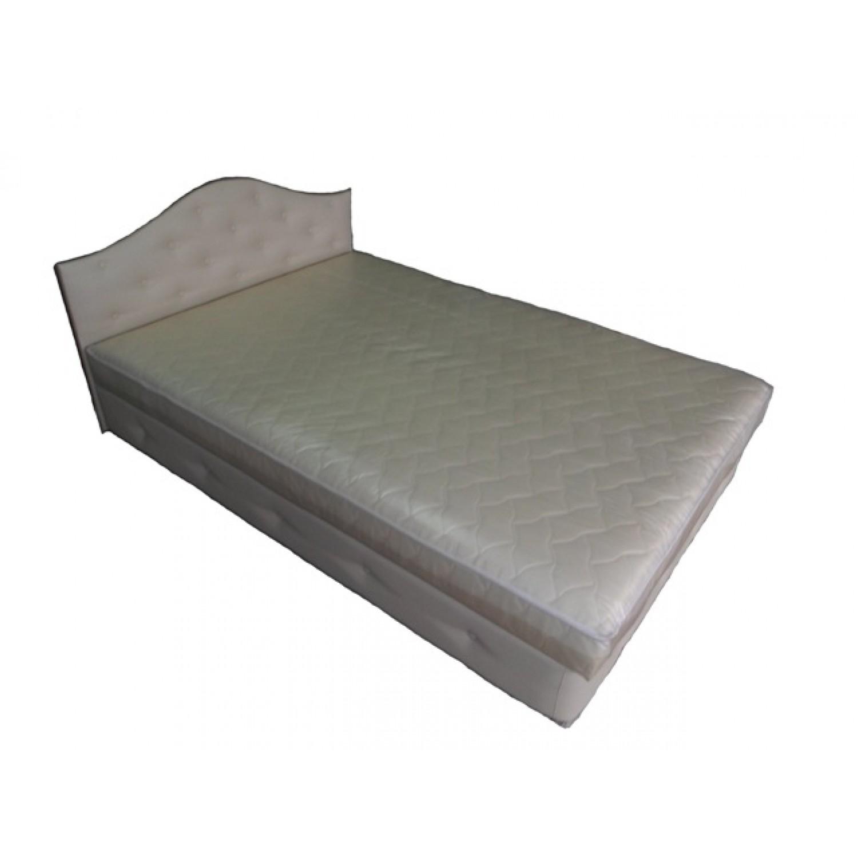 Тапицирано легло ANDOLI СВАРИ с повдигащ механизъм на матрака и ракла бяло
