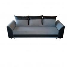 Диван ANDOLI Karina тройка lt gray с функция сън, ракла и подвижни възглавници, дамаска и еко кожа