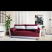 Разтегателен диван с ракла ANDOLI GeRi Red WFS дамаска, с 2 броя големи възглавници и 2бр. малки