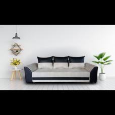 Диван ANDOLI Karina тройка lt beige с функция сън, ракла и подвижни възглавници, дамаска и еко кожа