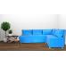 Кухненски диван с 2 ракли ANDOLI Simona blue дамаска с 5 броя големи възглавници