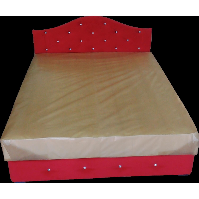 Тапицирано легло ANDOLI СВАРИ с повдигащ механизъм на матрака и ракла червен плюш