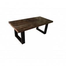 Дървена маса сметални крака холна маса