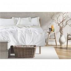Луксозен спален комплект с бродерия в екрю